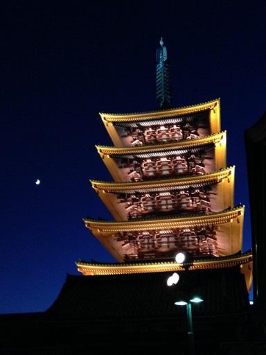 三日月と五重塔.JPG
